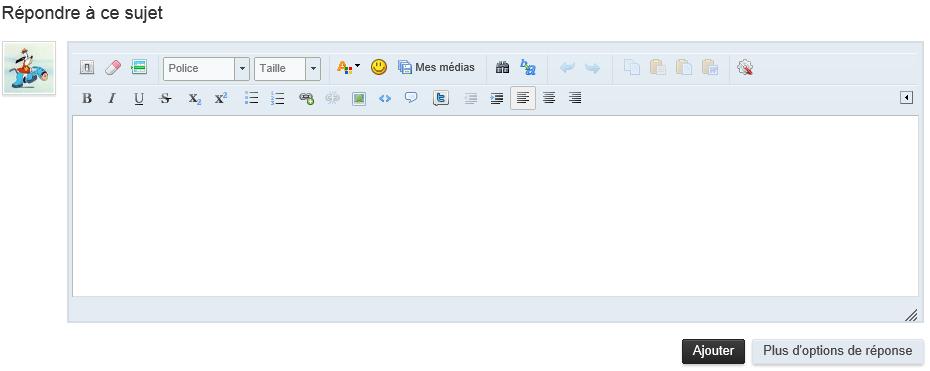 Capture d'écran de l'éditeur rapide
