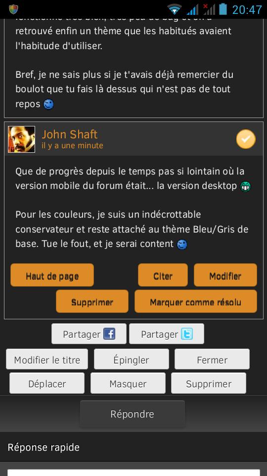 Test Forum Mobile