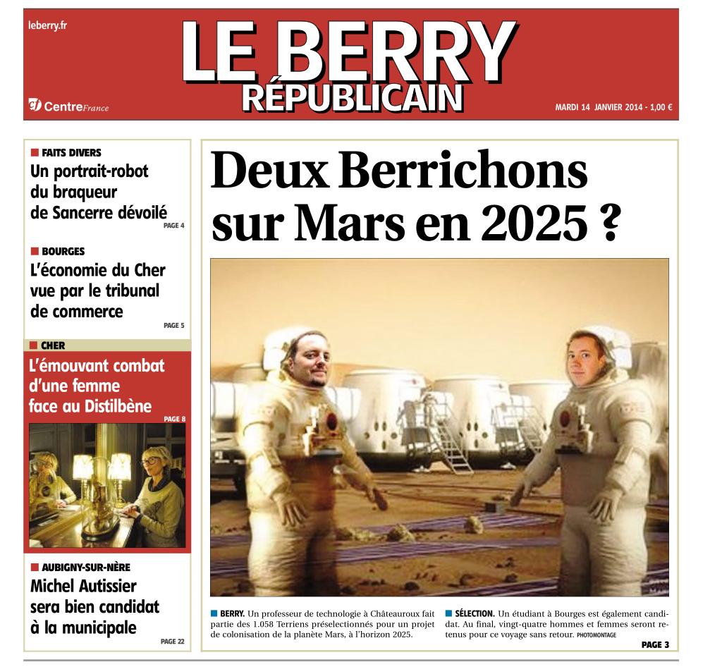 Le Berry Républicain du 14/01/14