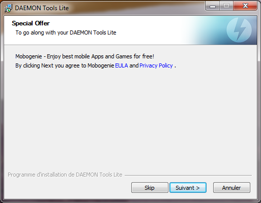 Daemon tools installation p1