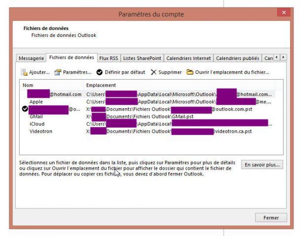 Etape3 : Outlook 2013