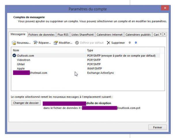 Etape2 : Outlook 2013