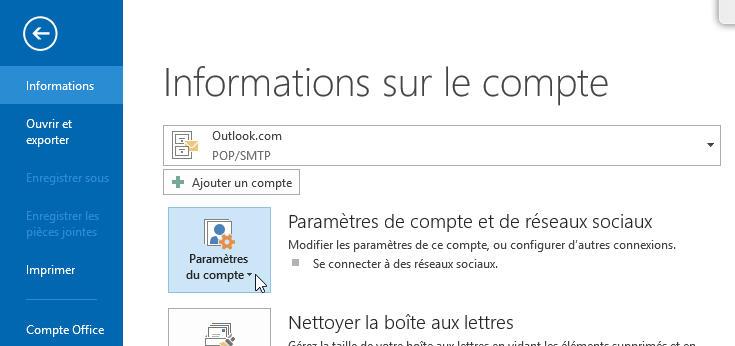 Etape1 : Outlook 2013