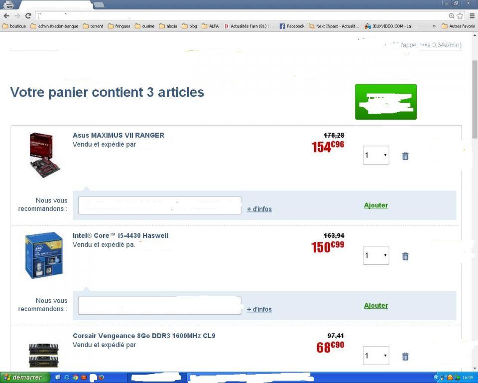 config n° 2 intel 374 euros