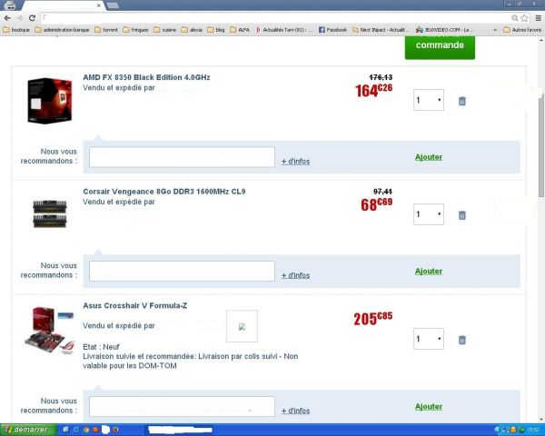 config n° 2 Amd  438 euros