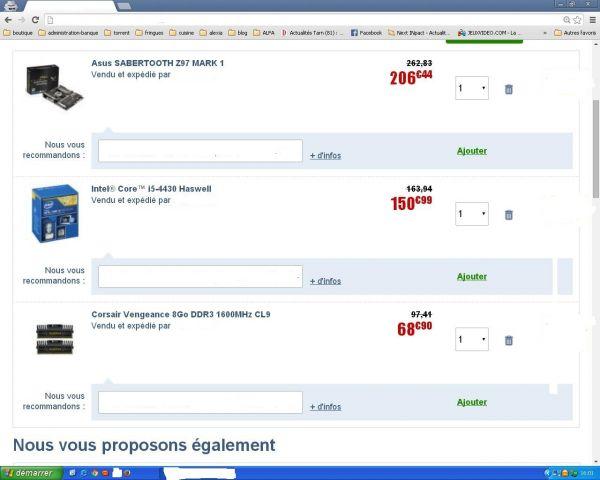 config n) 1 intel  426 euros
