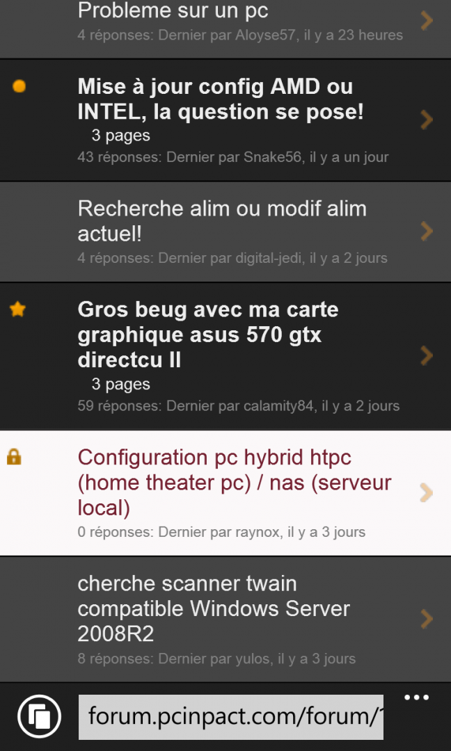 Thème Mobile Dev 8