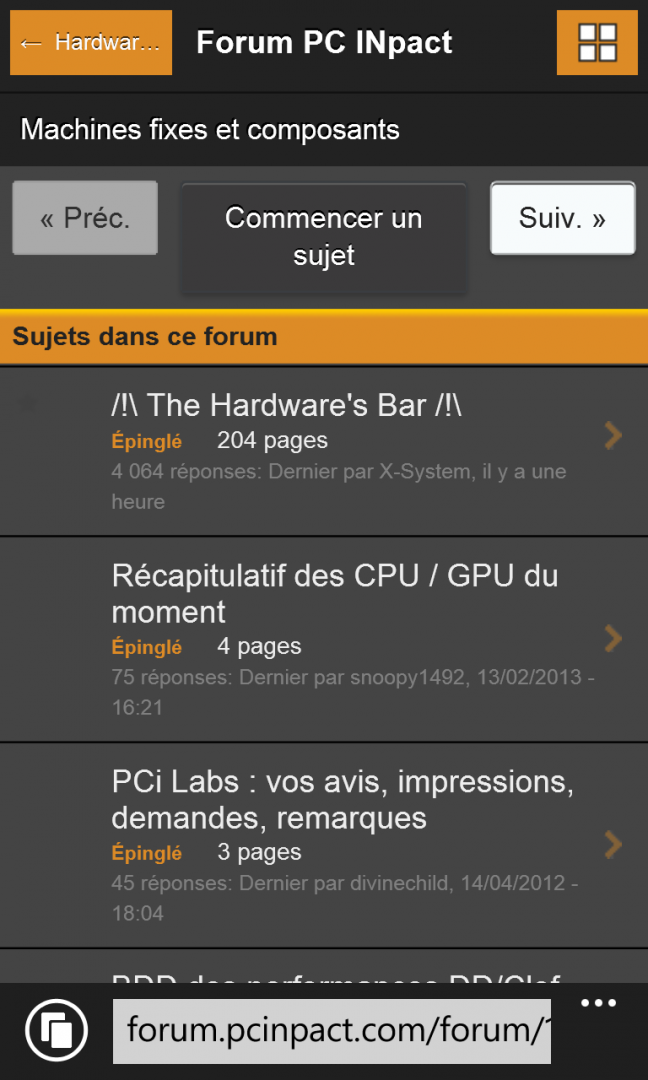 Thème Mobile Dev 5