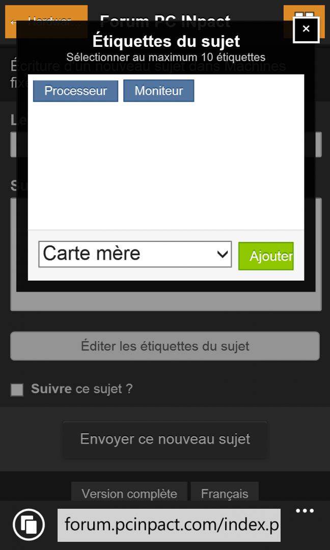 Thème Mobile Dev 7