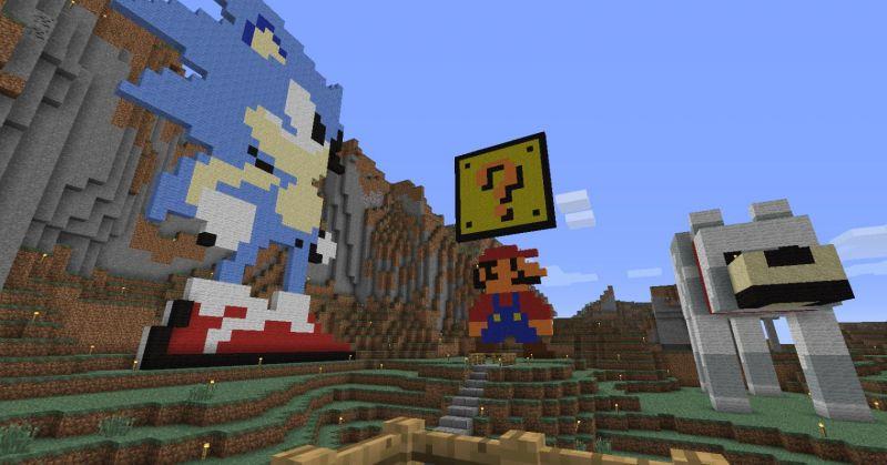 Pixel valey : Mario - Sonic