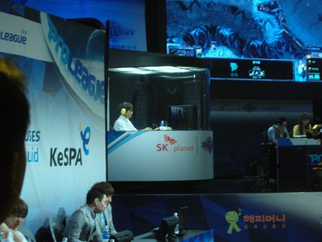 Le joueur KT en pleine séance de SC2 à Séoul