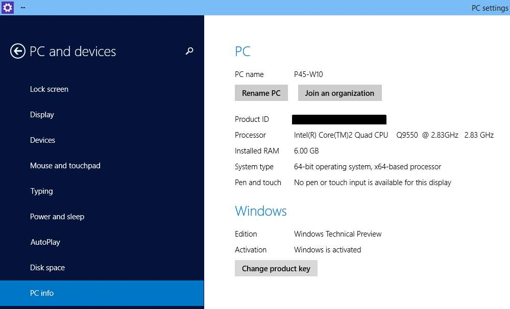 Windows10 Technical Preview