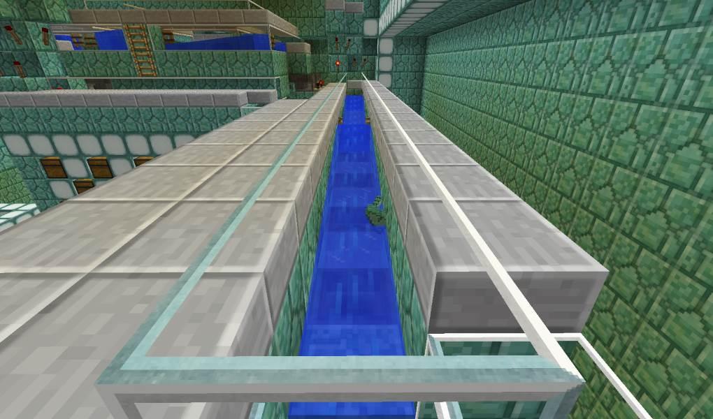 canal pour les éclats de prismarins