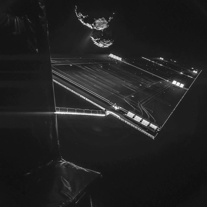 Rosetta mission selfie At 16 Km node full image 2
