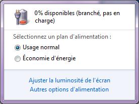 Batterie LENOGE branchée pas en charge.png