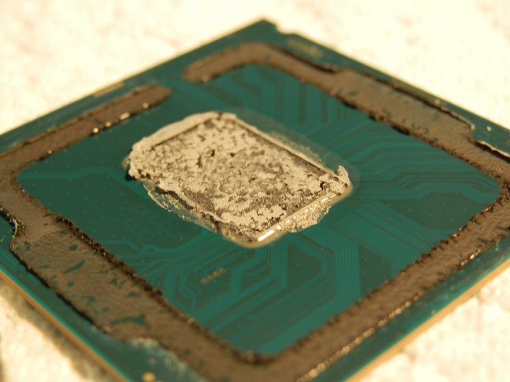 pâte thermique Intel sur le DIE