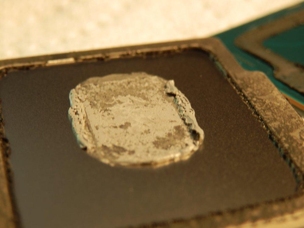 pâte thermique Intel sur IHS