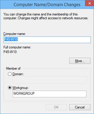 Computer Name / Domain Change
