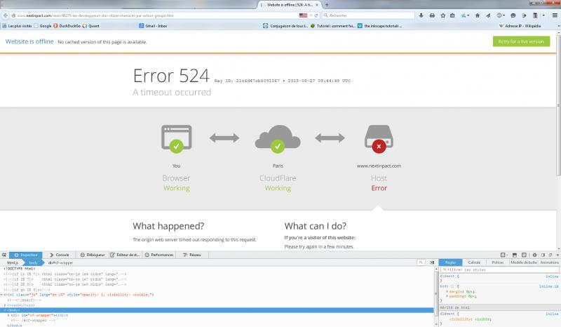 Nxi cloudflare offline