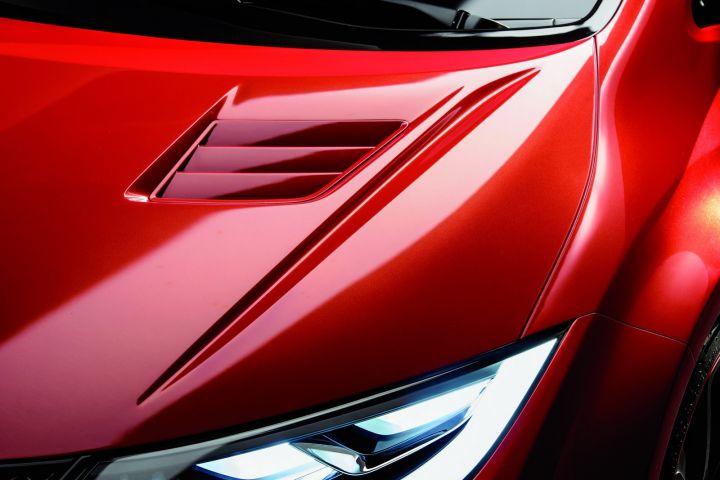 Honda Civic Type R Concept ouie capot