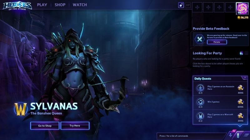 HotS Patch Sylvanas