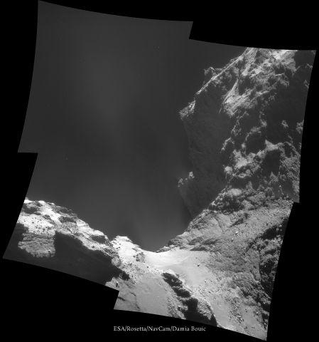 ESA Rosetta NAVCAM 141018 pano