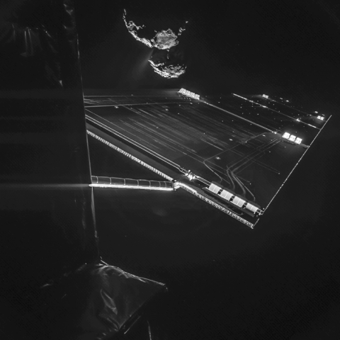 Rosetta mission selfie At 16 Km node full image 2